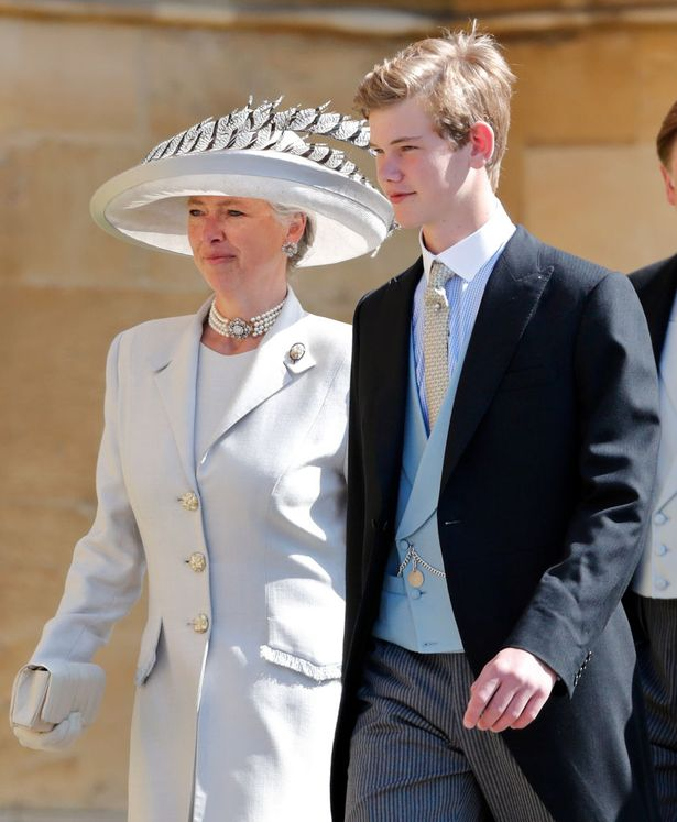 Tom Pettifer with his mum Tiggy at Meghan and Harry's wedding