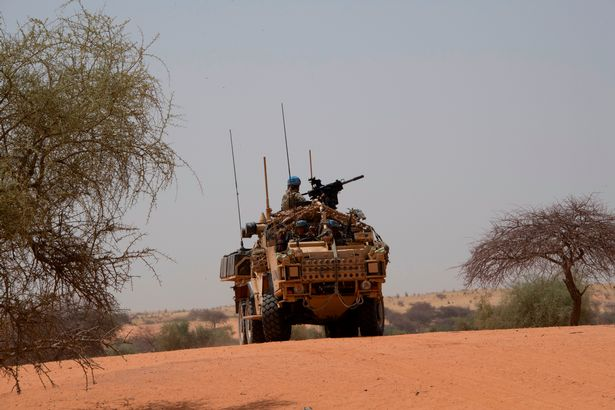 A squadron, the Light Dragoons, on a long range desert patrol in the south east of Mali