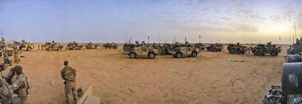 UK troops out in force in in Mali as dusk falls