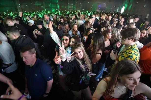 People react to the camera on as Nightclub Circus h