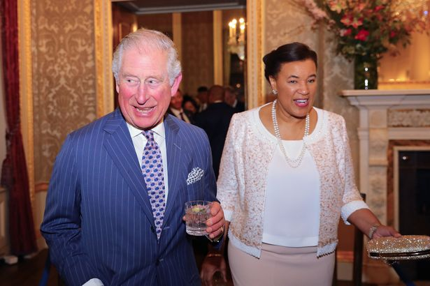 Mawhinney's mother Baroness Scotland with Prince Charles