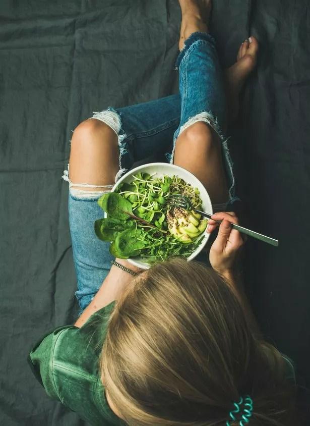 Green vegan breakfast meal in bowl