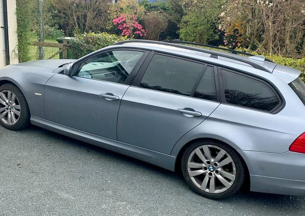 The BMW car that James Spence's daughter Siena was born in