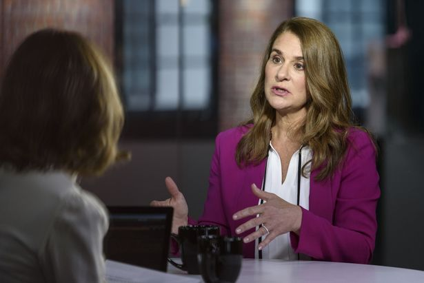 Melinda Gates, co-chair of the Bill and Melinda Gates Foundation, speaks during a Bloomberg Technology TV interview in San Francisco, California