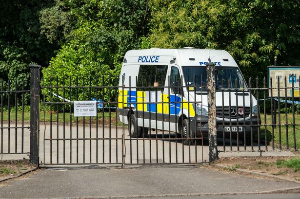 Police searching Handsworth Cemetery in Handsworth Wood, Birmingham, on June 23, 2020, in relation to the murder of Phoenix Netts