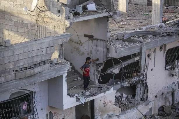 Dommages aux bâtiments à Gaza