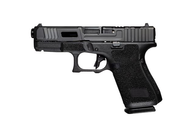 A general view of a Glock automatic 9mm handgun