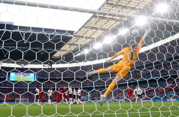 Denmark's Mikkel Damsgaard scored the game's opener - the first goal England have conceded at the Euros