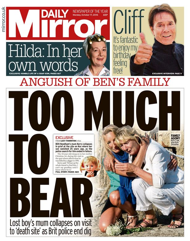 The Mirror has been telling the story of the search for years