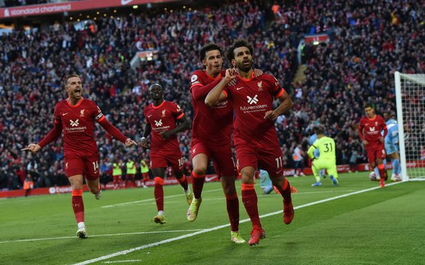 Mohamed Salah scored a stunning second for Liverpool against Manchester City