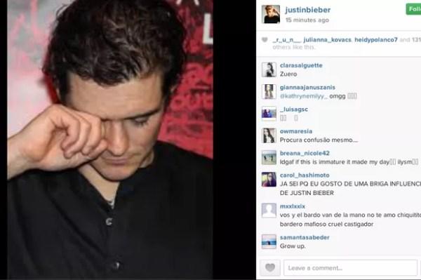 Justin Bieber taunts Orlando Bloom by posting snap of him ...