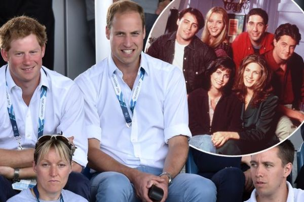 Prince William and brother Prince Harry want Friends ...