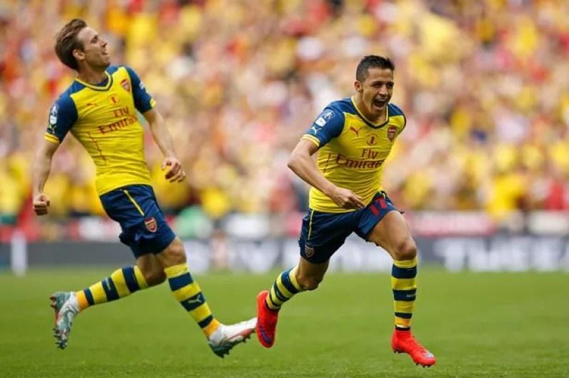 Alexis Sanchez LOVES Wembley: Arsenal attacker scores fifth goal ...