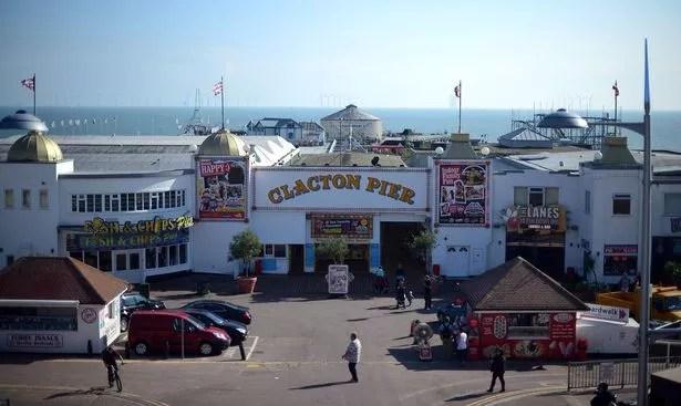 Una vista del muelle de Clacton
