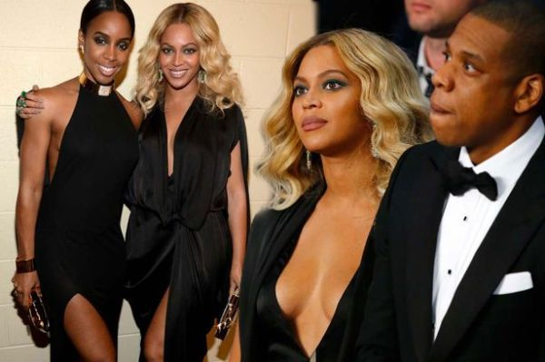 Beyonce flaunts cleavage with husband Jay Z and enjoys ...