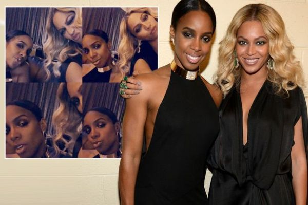 Beyonce and Kelly Rowland whip out the pouts during mini ...