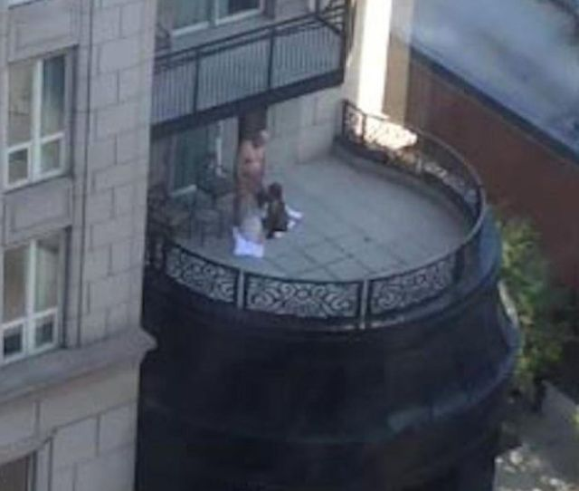 Scandalous Footage Shows Two Women Performing Sex Act On Man On Posh Hotel Balcony Mirror Online