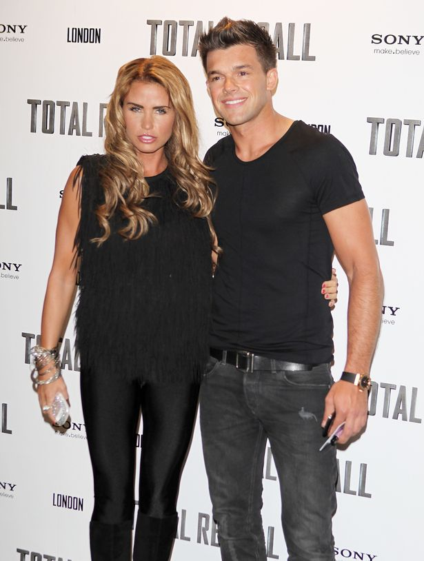 Katie Price (L) and Leandro Penna