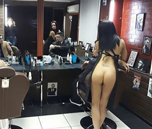 Men Flocked To Get Their Hair Cut By Scantily Clad Stylists Image Cen