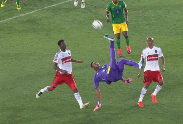 Masuluke was nominated for the Puskas Award for this effort