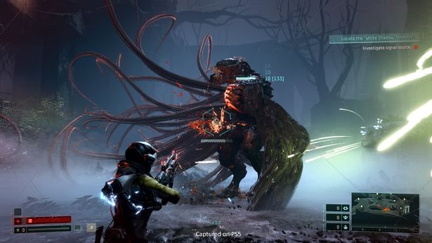 A giant creature faces off against Selene