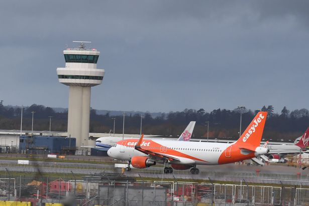 An easyJet plane at Gatwick Airport