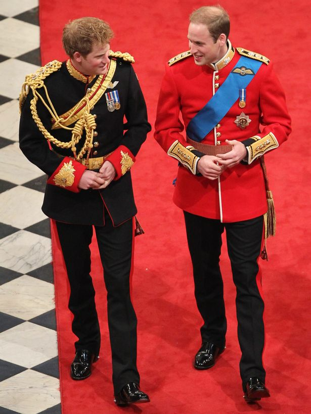 William and Harry in happier times in 2011