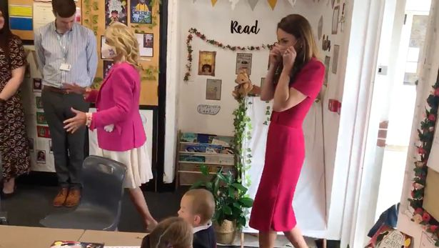 Kate and Jill greeted four- and five-year-olds when they attended elementary school