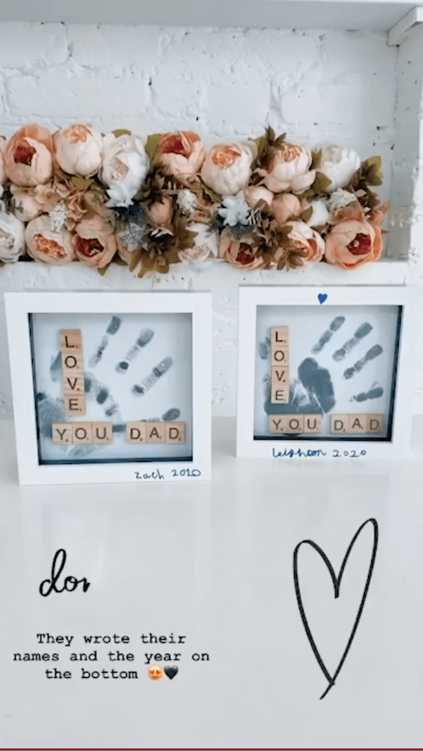 The finished result is such a lovely gift that their dads will no doubt keep forever
