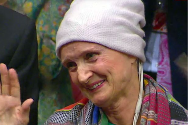 Dame Tessa Jowell making an emotional plea for more cancer treatment in Parliament
