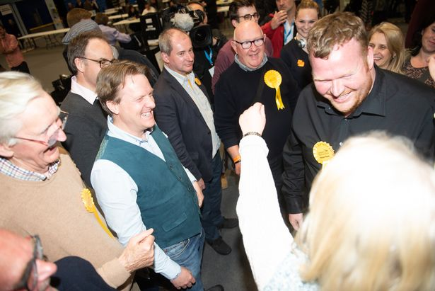 It was a great day for the Lib Dems, who took over 60% of the available seats