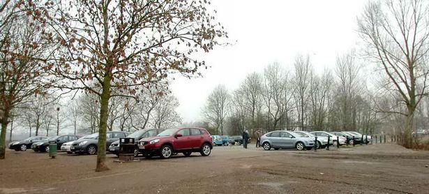 The car park at Westport Lake