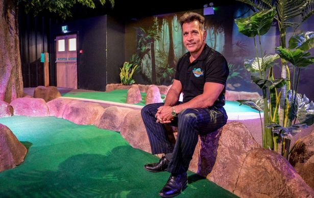 Mo Chaudry pictured at Adventure Mini Golf