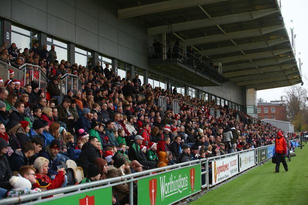 A packed house watch Dragons take on Cardiff Blues