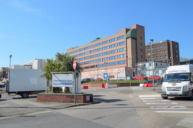 The Royal Gwent Hospital in Newport. Aneurin Bevan's board of health has the highest number of confirmed coronavirus cases in Wales