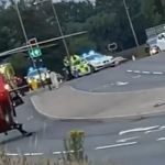 Motorcyclist rushed to hospital after crash along busy road 💥🚑🚓🚑🚓🚑🚓💥