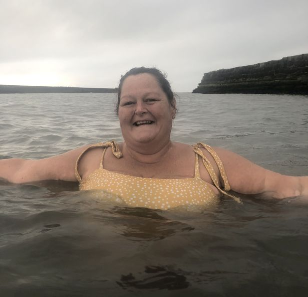 Kathleen has spent almost every day in the water since starting wild swimming - and says it has saved her life