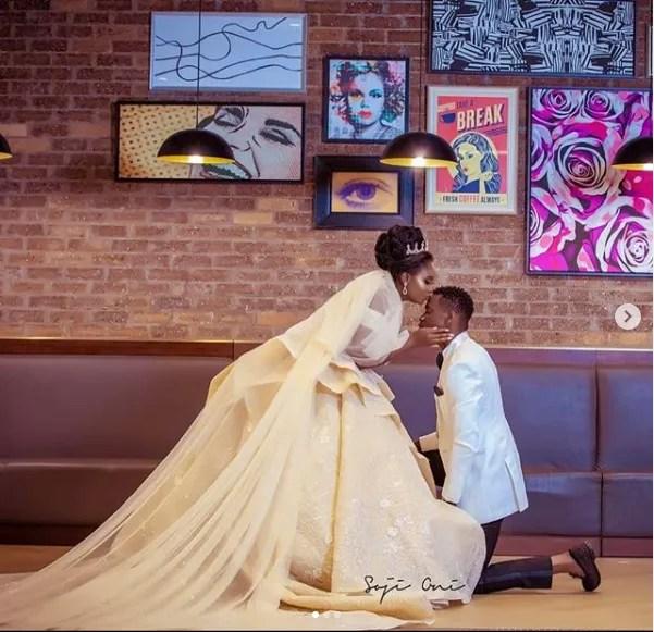 Lateef Adedimeji and Adebimpe Oyebade Shock Fans with wedding Photos