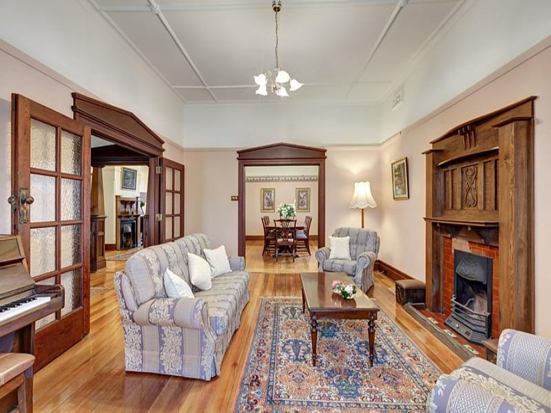 Carefully detailed Edwardian style timber joinery at 15 Currajong Avenue, Camberwell, Vic 3124