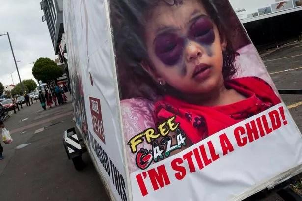 The Free Gaza mobile billboard in Coventry Road, Small Heath