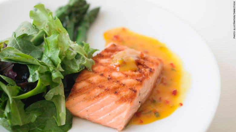 """Fatty fish, such as salmon and tuna, contain omega-3 fatty acids, which help control inflammation in your body,"" dietitian Maxine Yeung says."