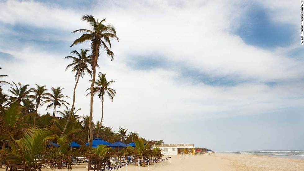 Labadi beach is Accra's most popular stretch of coast. On weekends visitors are often entertained by traditional Ghanaian music, drumming and dancing.