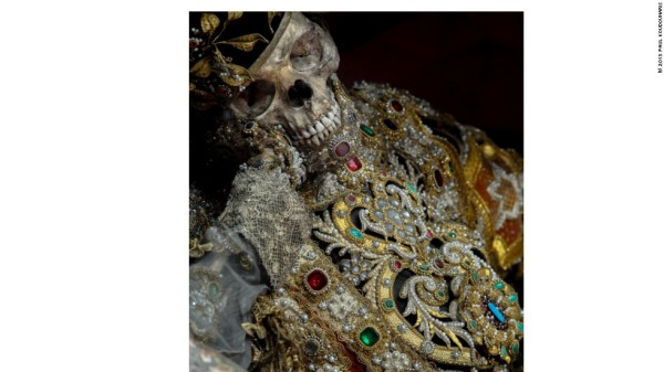 Beauty from the crypt: Mystery of Europe's jeweled skeletons