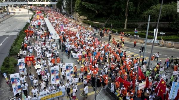 511 arrested at Hong Kong pro-democracy protest - CNN