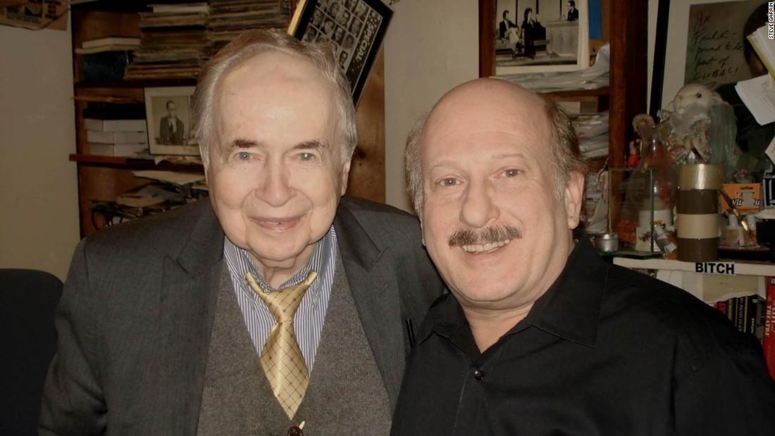 Joe Franklin, left, with his former producer Steve Garrin