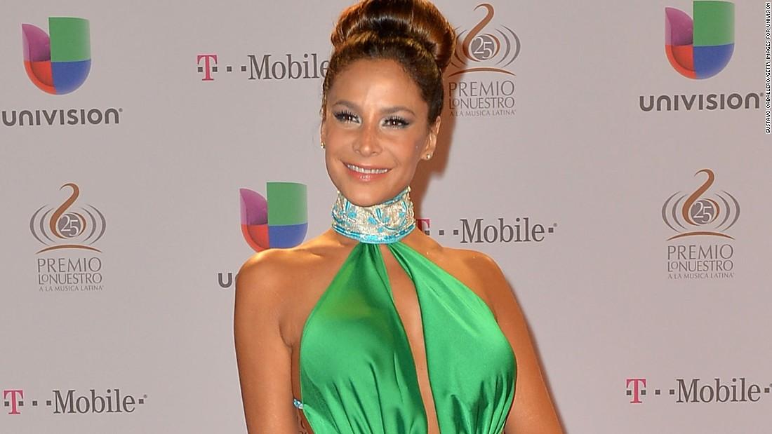 Caption:MIAMI, FL - FEBRUARY 21: Lorena Rojas arrives at the 25th Anniversary Of Univision's 'Premio Lo Nuestro A La Musica Latina' on February 21, 2013 in Miami, Florida. (Photo by Gustavo Caballero/Getty Images for Univision)
