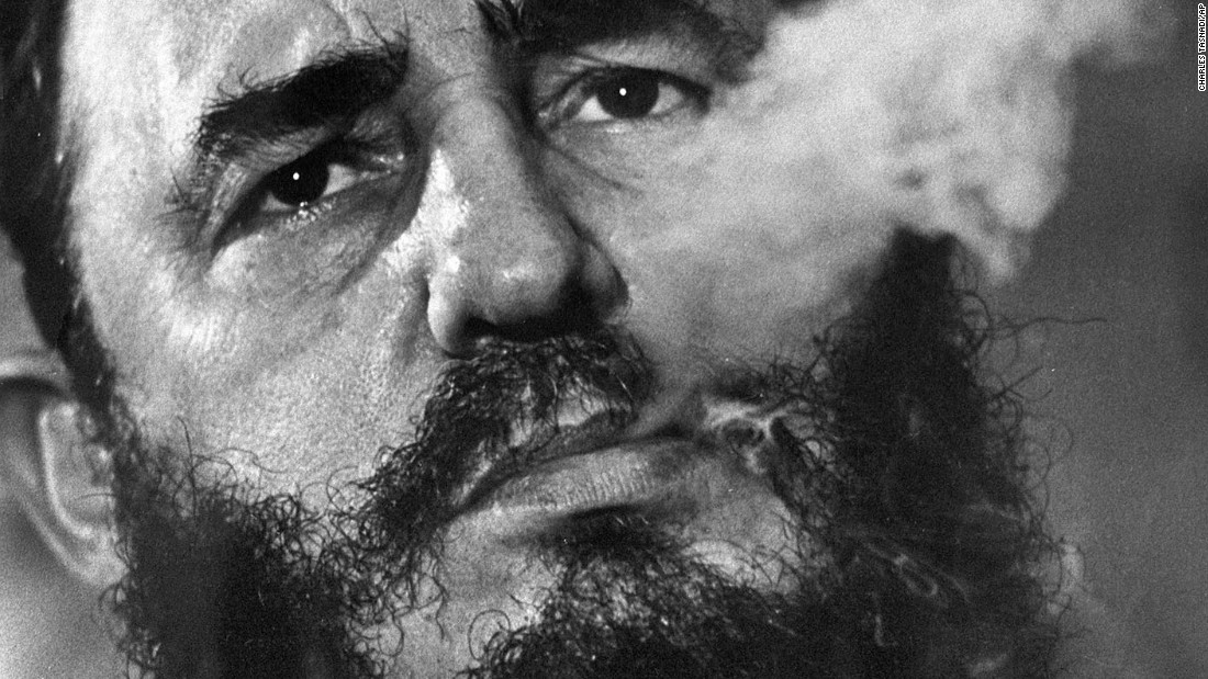 Fidel Castro exhales cigar smoke during a March 1985 interview at his presidential palace in Havana, Cuba. Castro died at age 90 on November 25, 2016, Cuban state media reported.  Click through to see more photos from the life of the controversial Cuban leader who ruled for nearly half a century: