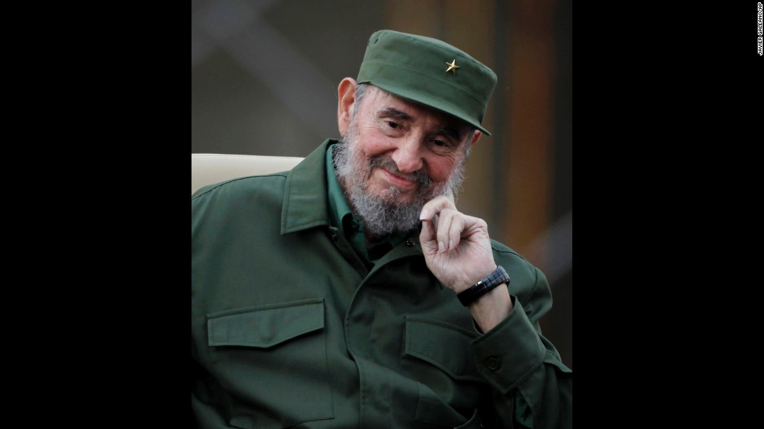 Castro smiles before delivering a speech in Havana in September 2010. He had remained mostly out of sight after falling ill in 2006 but returned to the public light that year.