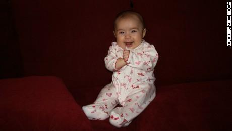 Julianna Snow at 3 months old.