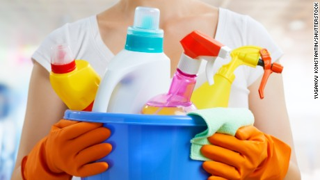 Banned antimicrobial chemicals found in many household products